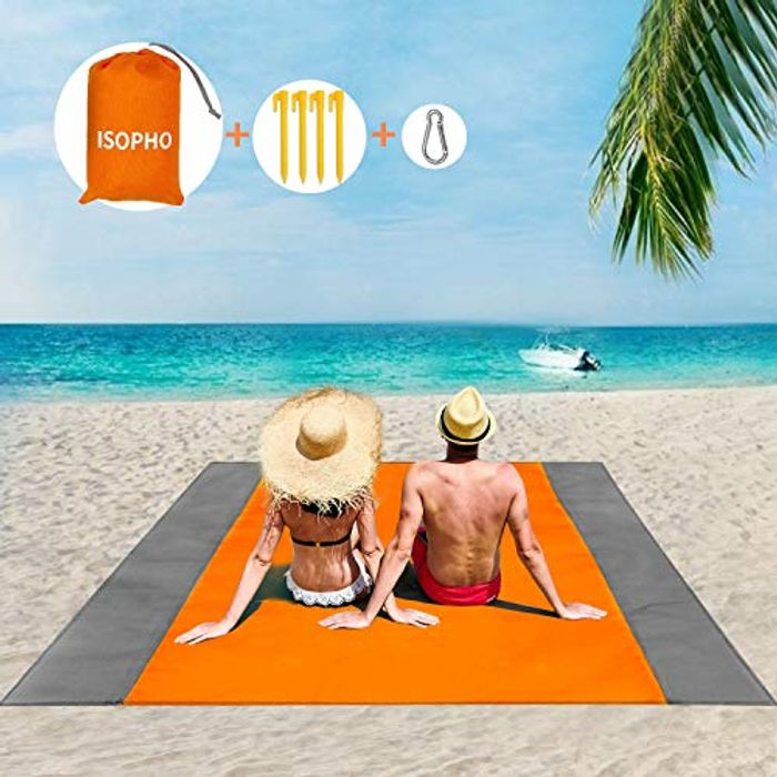 Beach Mat Picnic Blanket, Extra Large 210 X 200cm Beach Blanket Waterproof