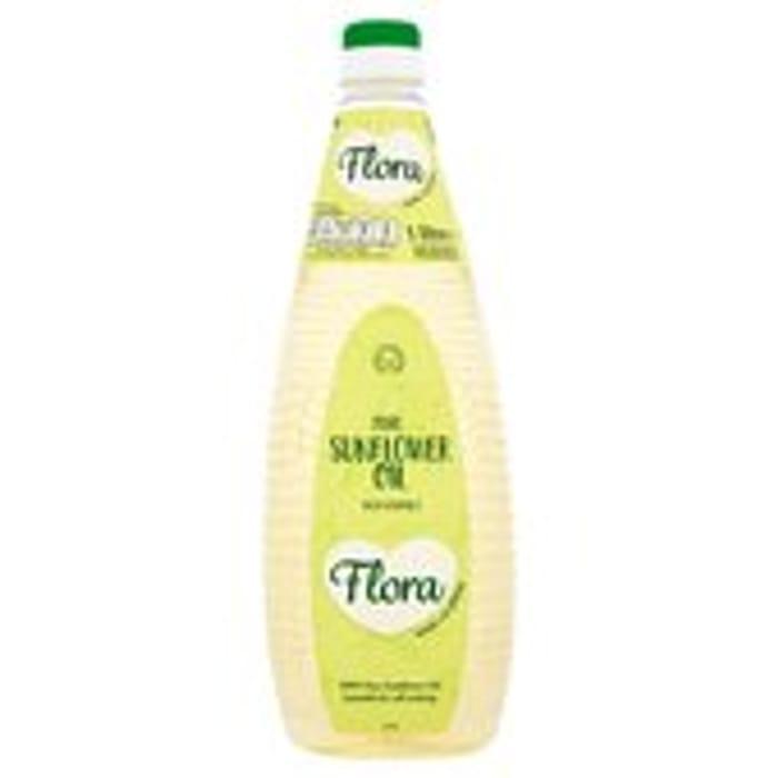 Flora Pure Sunflower Oil with Vitamin E 1L