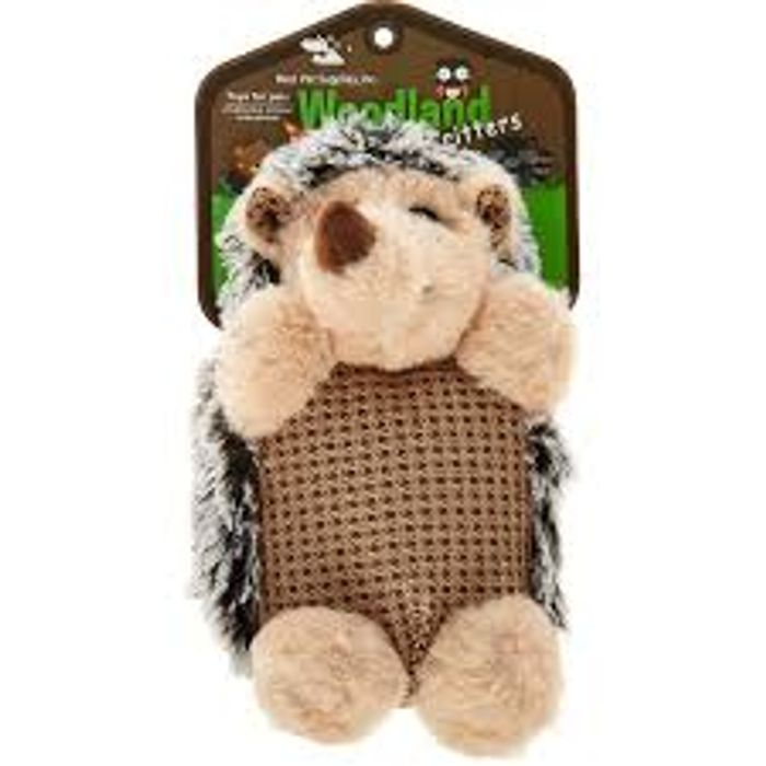 Best Pet Supplies Brown Hedgehog Doggy Soft Toy 24x12cm