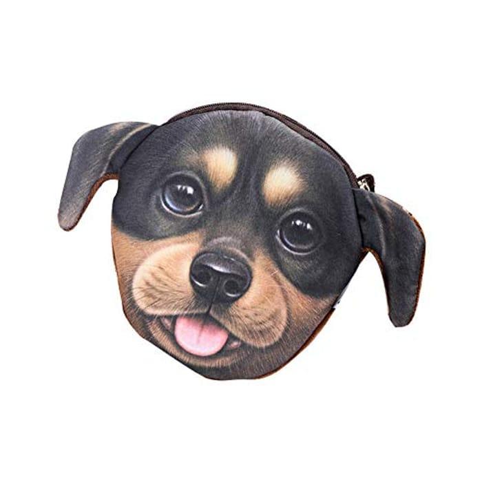 Creative Design Dog Face Change Purse Plush Large FREE DELIVERY