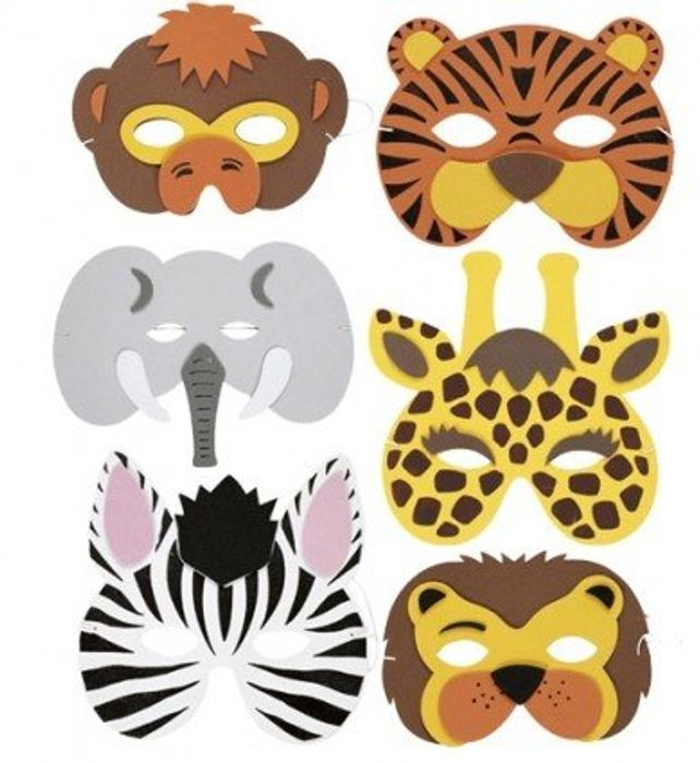Children's Foam Animal Masks (20 Pcs) FREE DELIVERY