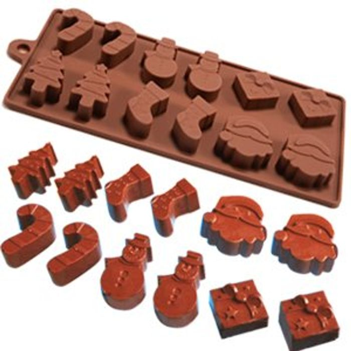 Best Price 6 Shapes Silicone Fondant Christmas Baking Mould