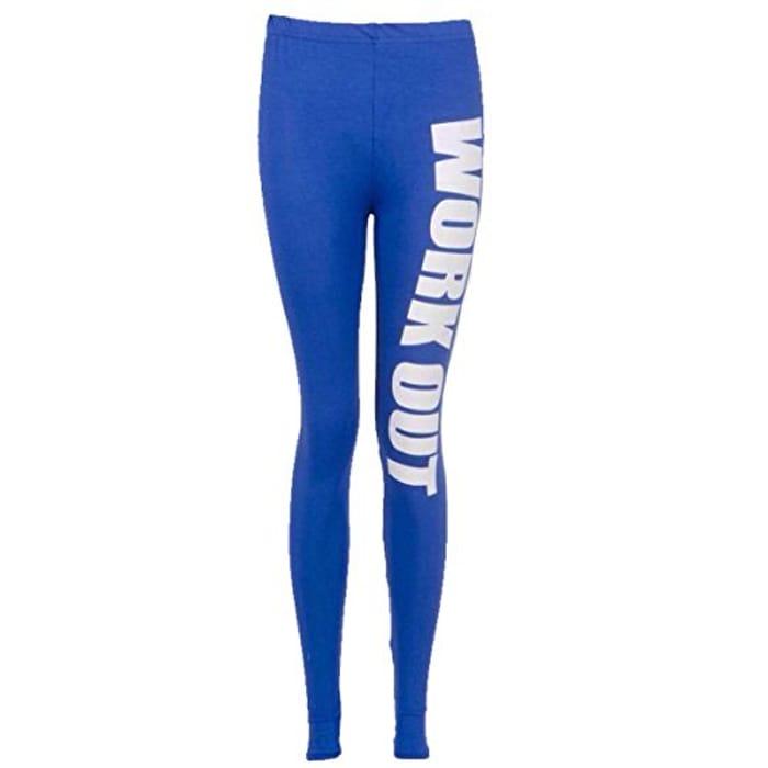 Ladies Leggings (Medium/Large, Royal Blue)