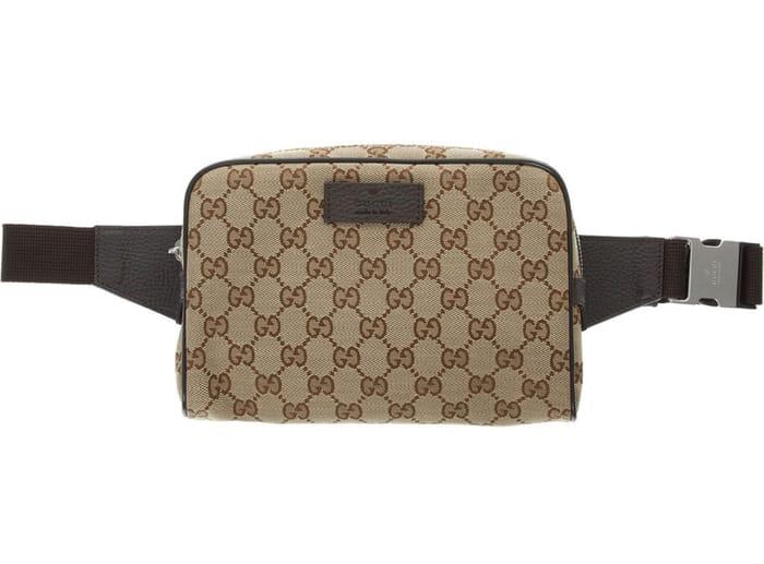 GUCCI Beige Monogram Bum Bag
