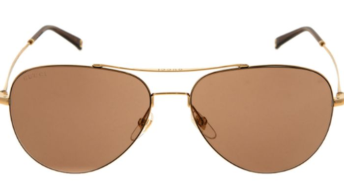 GUCCI Gold Tone Aviator Sunglasses Only £99.99