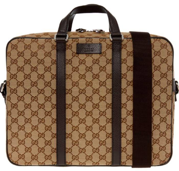 GUCCI Beige & Brown Messenger Bag