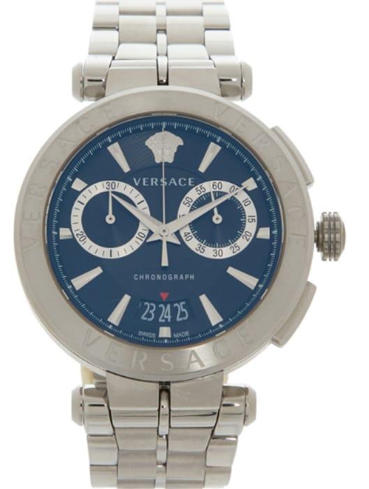 VERSACE Silver Tone Chronograph Watch