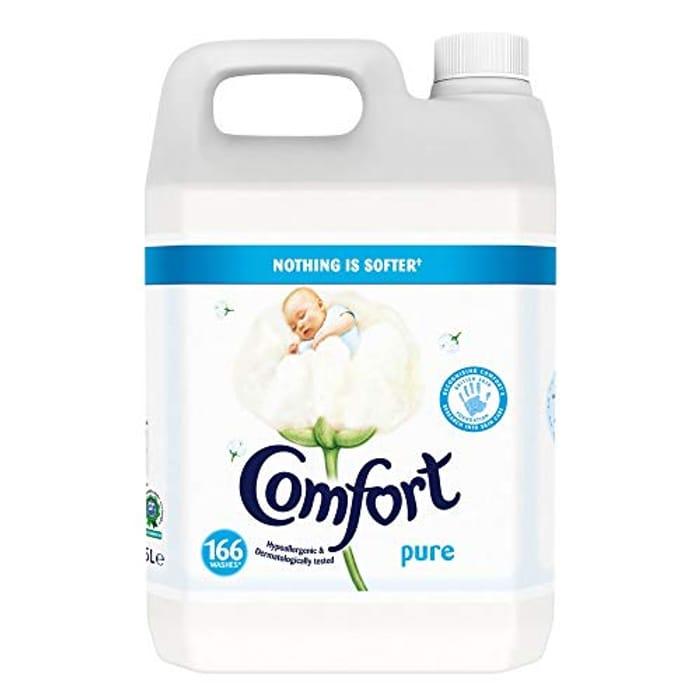 Comfort Pure Fabric Conditioner 166 Wash, 5 Litre (6p a Wash)