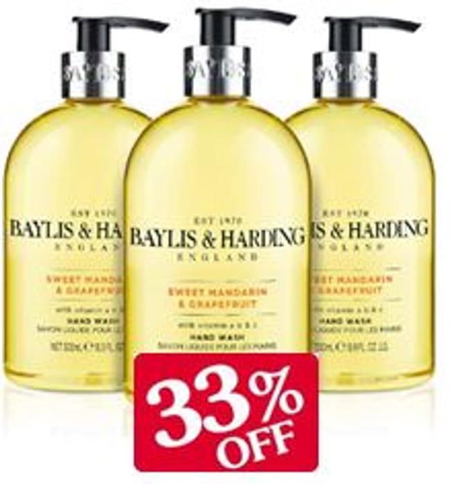 Baylis & Harding Hand Wash, Sweet Mandarin & Grapefruit (3 PACK) ADD-ON ITEM