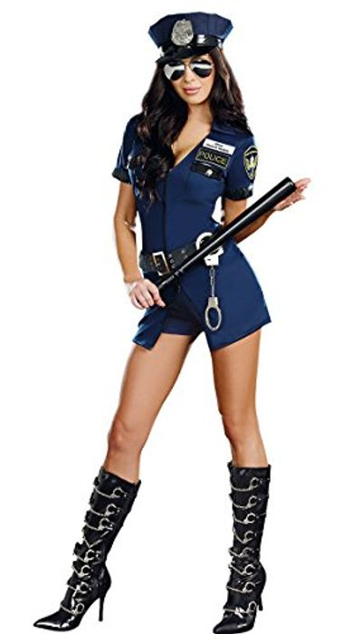 Sexy Police Woman Costume (Size 12 to 16)