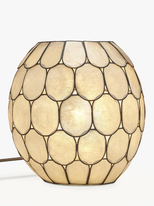 John Lewis & Partners Ampara Capiz Shell Vessel Table Lamp Only £35