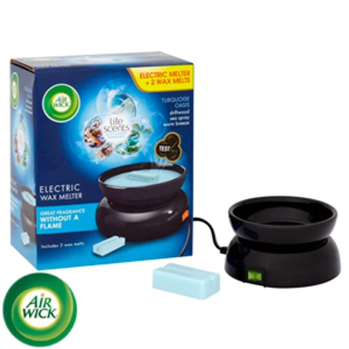Air Wick Electric Wax Melter with Turquoise Oasis Refills