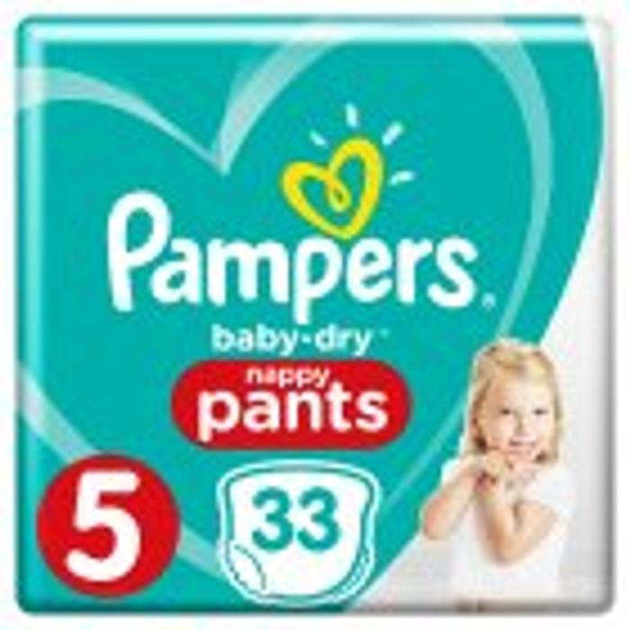 Pampers Baby Dry Nappy Pants Sizes 3 - 7 £3.75
