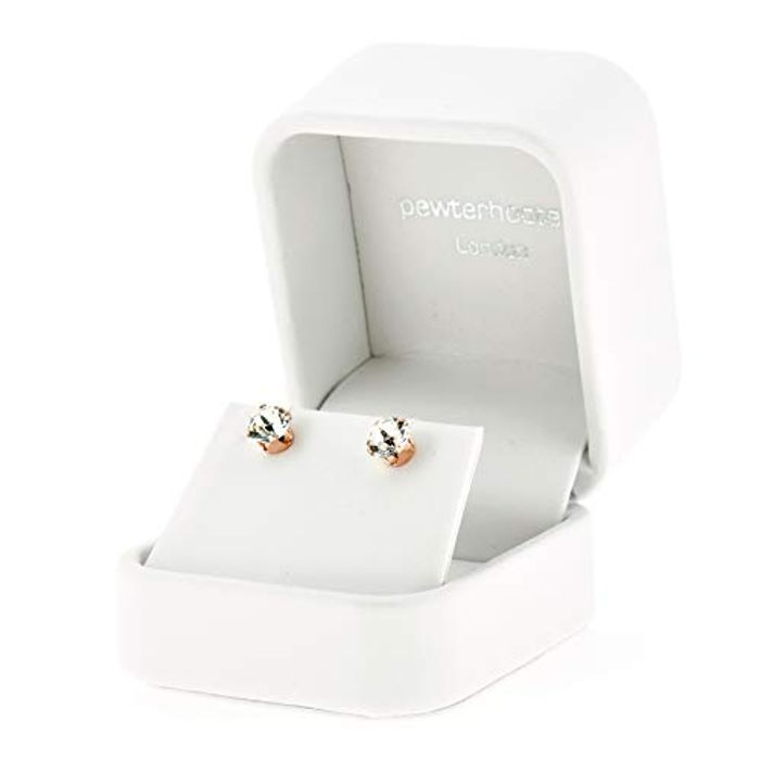 18ct Rose Gold on 925 Sterling Silver Stud Earrings