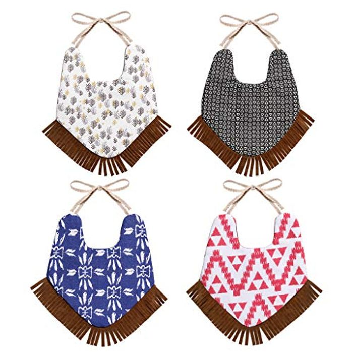 Price Drop! 4 Pack Baby Bibs with Gift Box