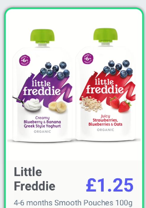 Little Freddie Baby Foods Possibly Free or Less!