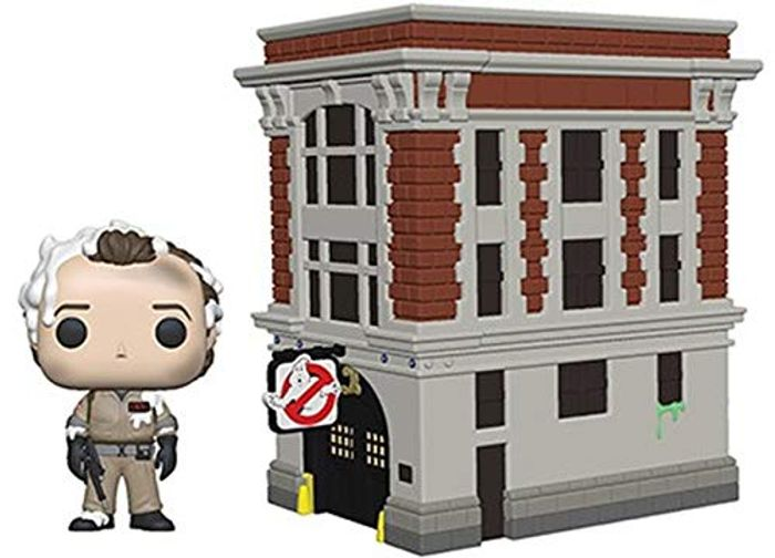 Funko 39454 POP Town: Ghostbusters-Peter with House Collectible Figure