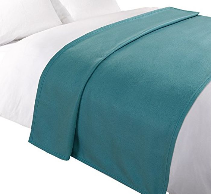 Cheap Dreamscene Throw Blanket, Bedspread, Teal ADD on ITEM Only £3.99