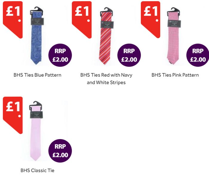 Stylish Men's Ties Originally Sold in BHS! *All £1