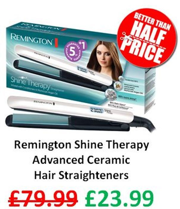 SAVE £56 - Remington Shine Therapy Advanced Ceramic Hair Straighteners