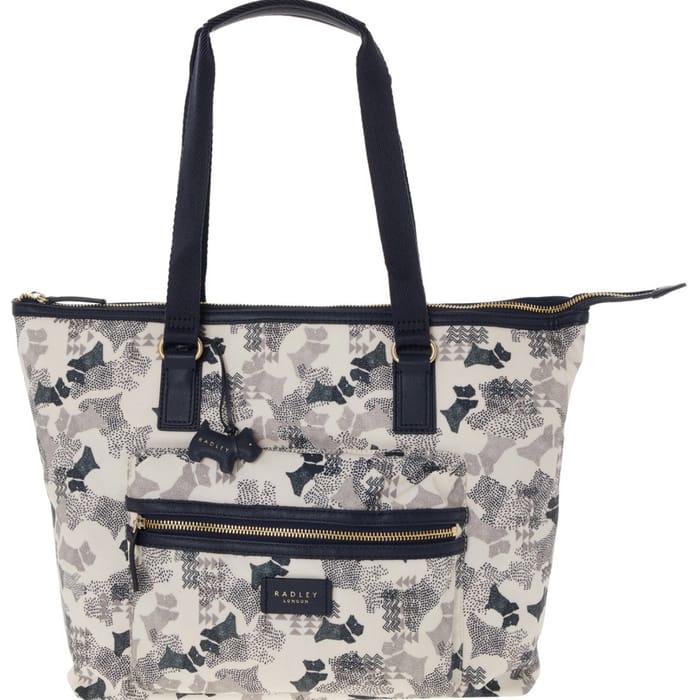 RADLEY LONDON Chalk & Navy Dog Shoulder Bag