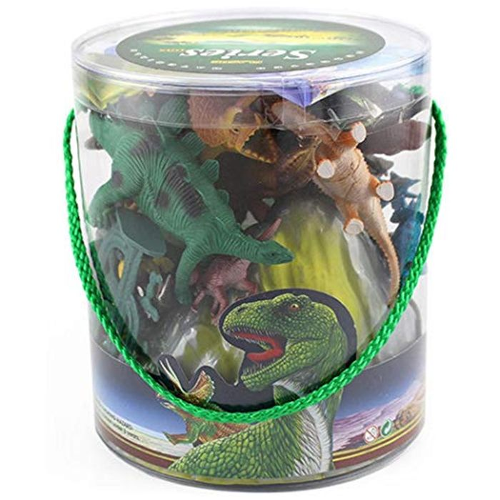 13Pcs /15Pcs Bucket Simulation Dinosaur Toy 70% off + Free Delivery