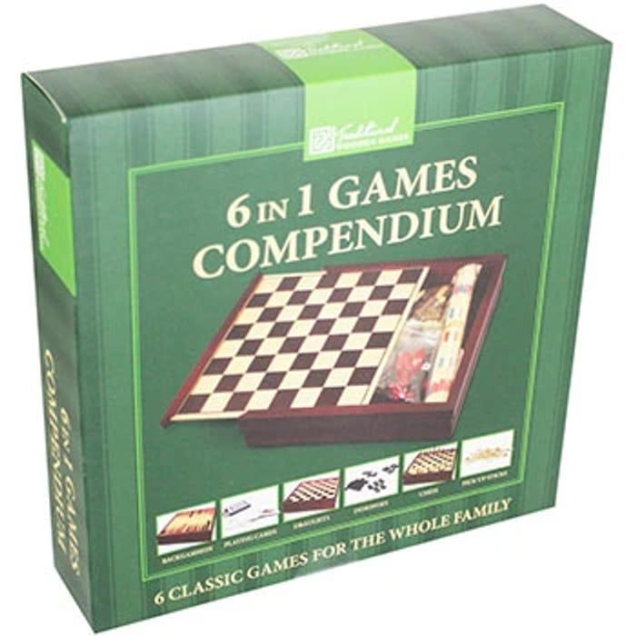 6 in 1 Wooden Game Compendium