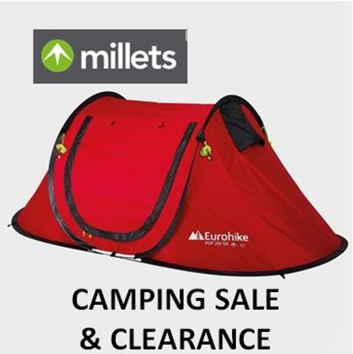 Millets CAMPING SALE & CLEARANCE - Massive Discounts!