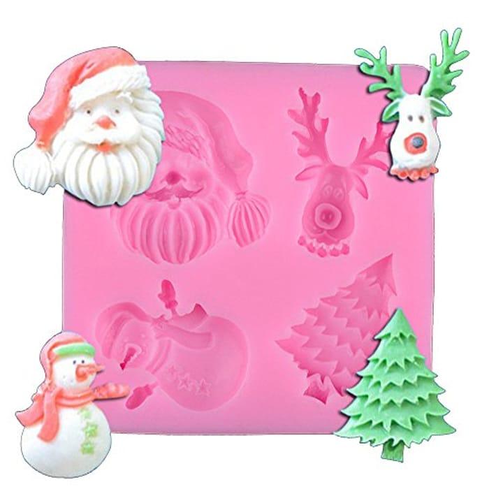 Best Price Christmas Silicone Fondant Cake Icing Sugarcraft Decorating Mould