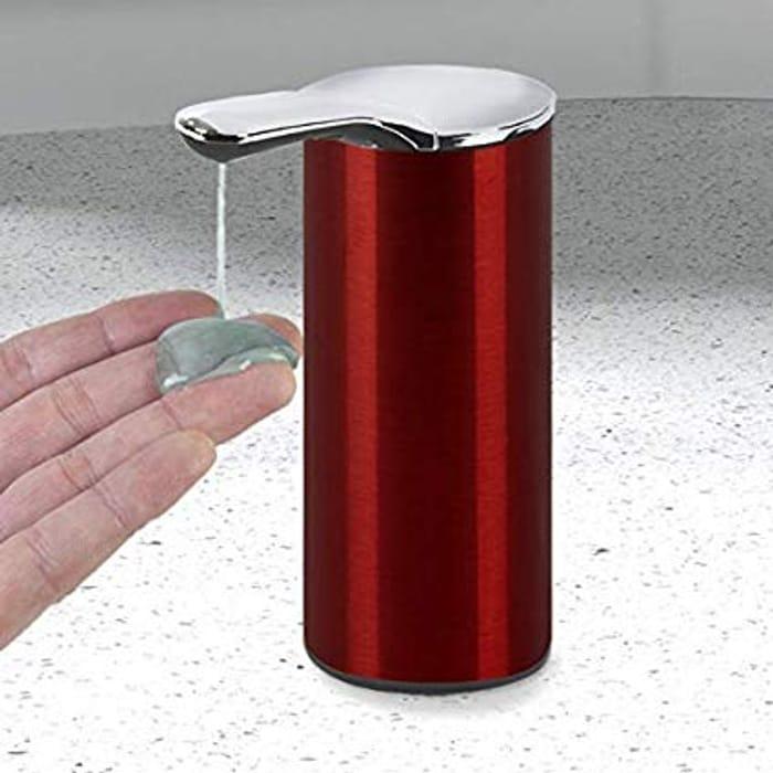 Morphy Richards Sensor Soap Dispenser, Steel, Red