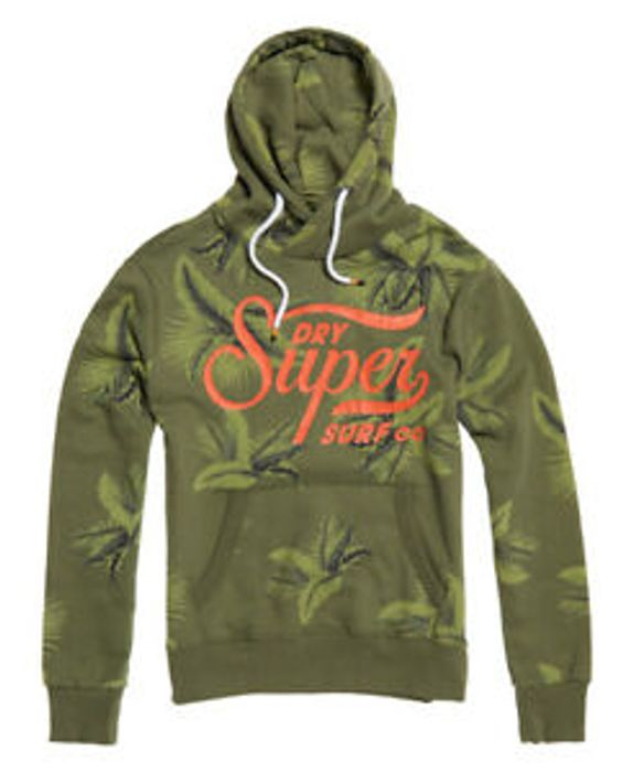 Cheap Mens Superdry Super Surf Crossover Hoodie Washed Cedarwood Only £24.99
