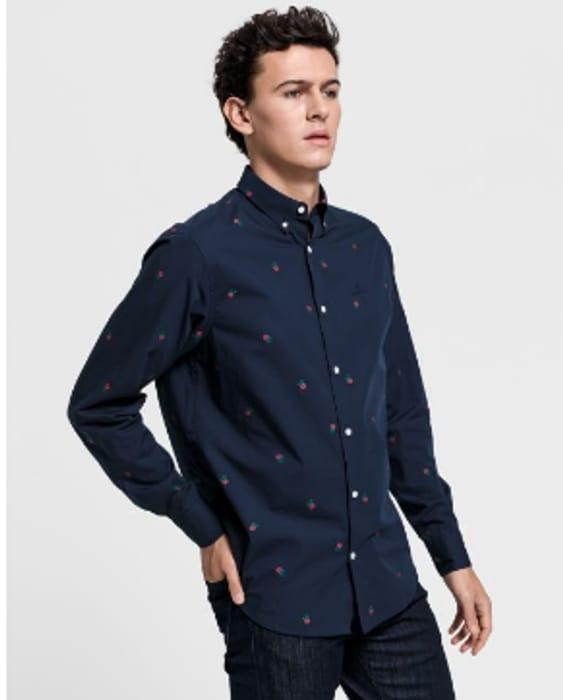 GANT Regular Fit Rose Fil-Coup Shirt Style - Marine