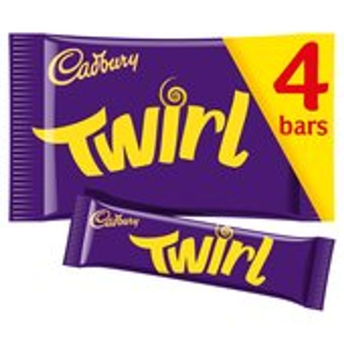 Cadbury Twirl Chocolate Bar 4 Pack 4 X 34g