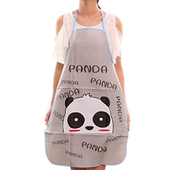 Topker Cute Cartoon Waterproof Apron Panda FREE DELIVERY