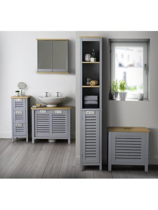 Ideal Home Boston Mirrored Bathroom Wall Cabinet