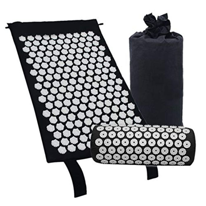 Gaoominy Acupressure Massage Mat with Pillow FREE DELIVERY