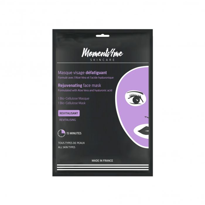 Rejuvenating Face Mask With Aloe Vera and Hyaluronic Acid 16g Pack - Save £9.01