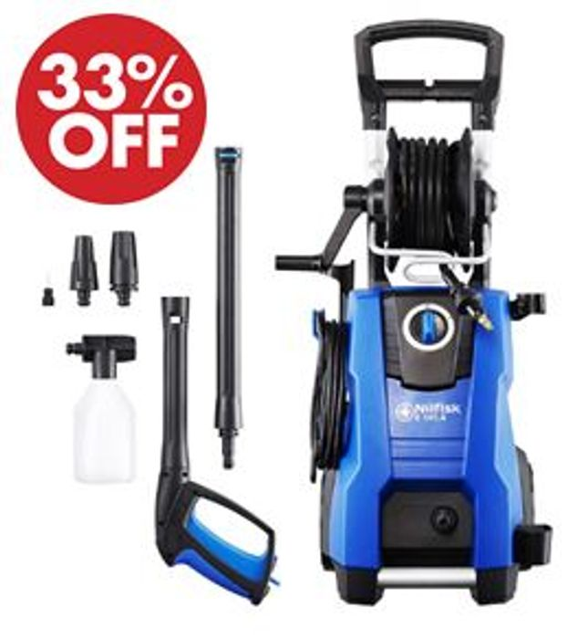 £100 OFF TODAY! Nilfisk E 145 bar Power Washer with 2100W Induction Motor