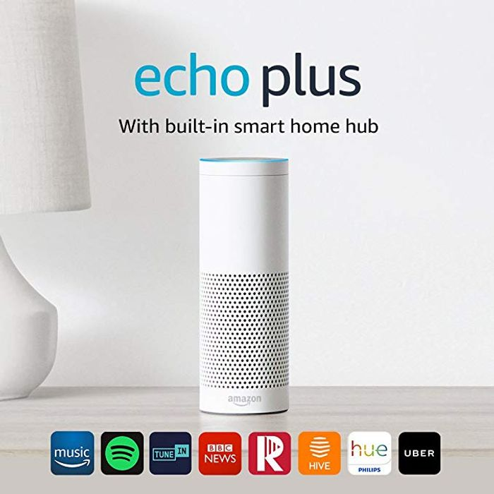 Best Ever Price! Echo plus with Built-in Smart Home Hub + Philips Hue White E27