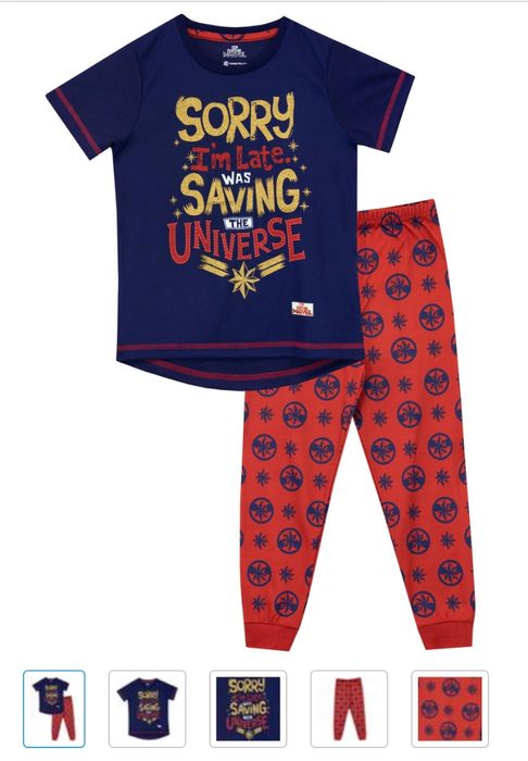Captain Marvel Pyjamas