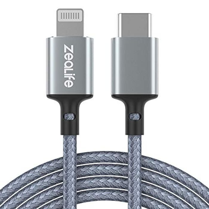 50% off USB C to Lightning Cable 6.6ft