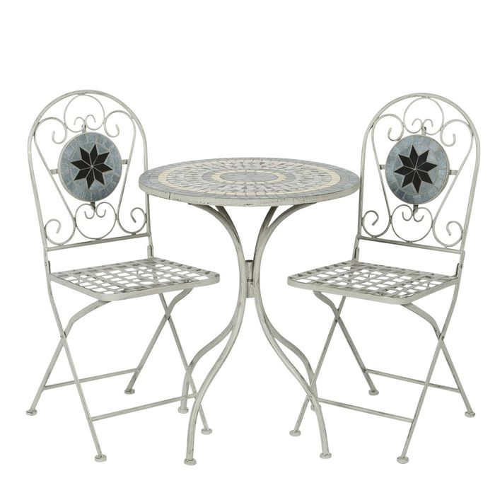 Metal Mosaic 2-Seater Bistro Set