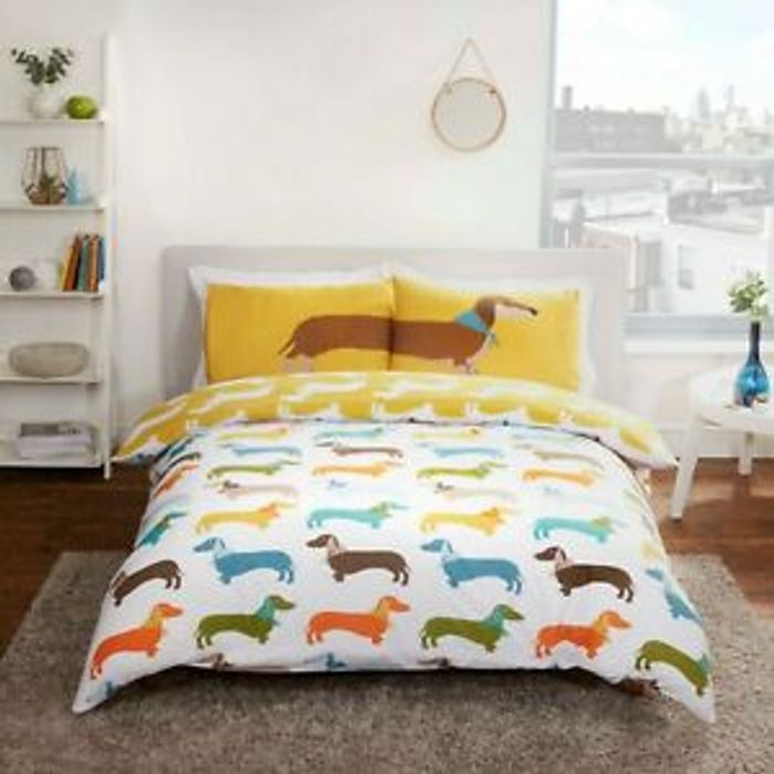 Sausage Dog Reversible Duvet Cover Set £10 Single, £16 Double & £18 King