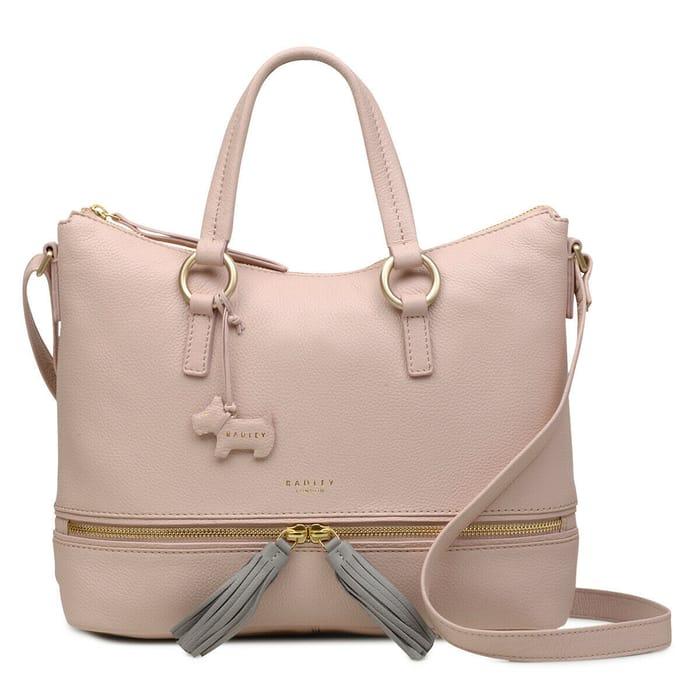 Save 70% Radley Pickering Medium Tote Bag Black or Pink £65.70