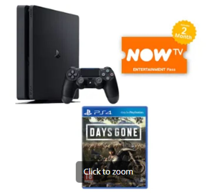 500GB PLAYSTATION 4 with DAYS GONE and NOW TV Only £249