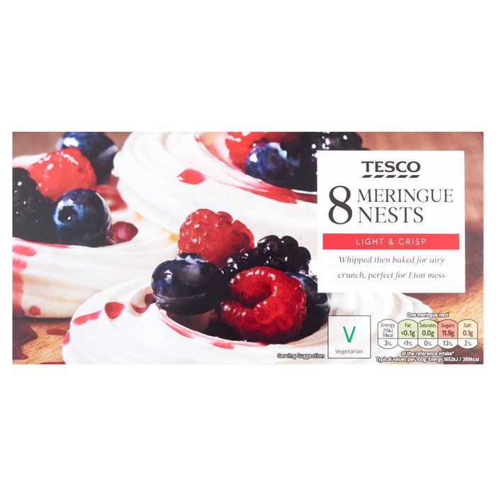 Tesco 8 Meringue Nests Down From £1.2 to £1