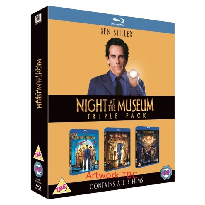 Night at the Museum 1-3 Blu-Ray £3.82 with Code