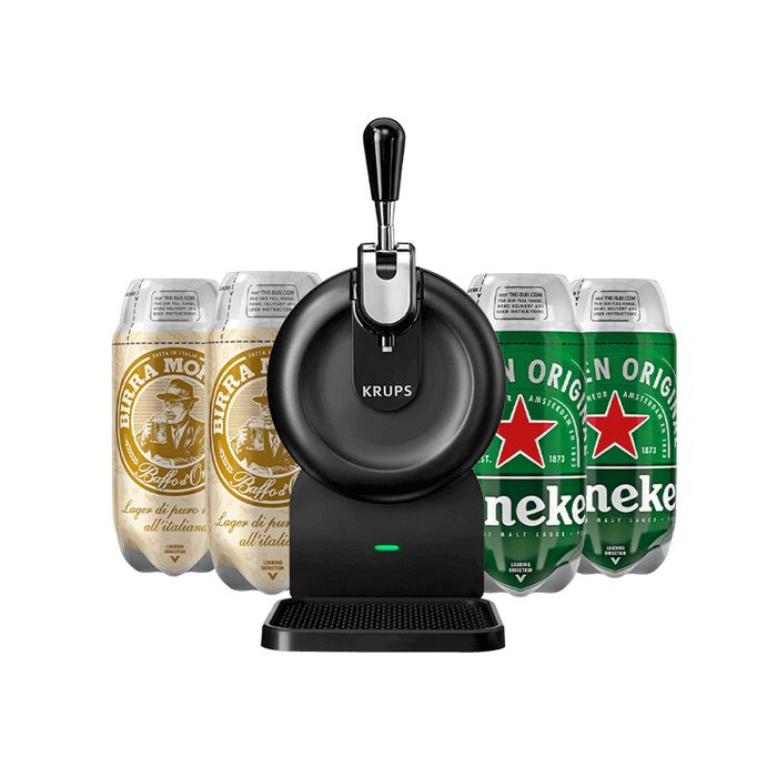 The SUB Compact Black - 2 Heineken 2 Birra Moretti Bundle