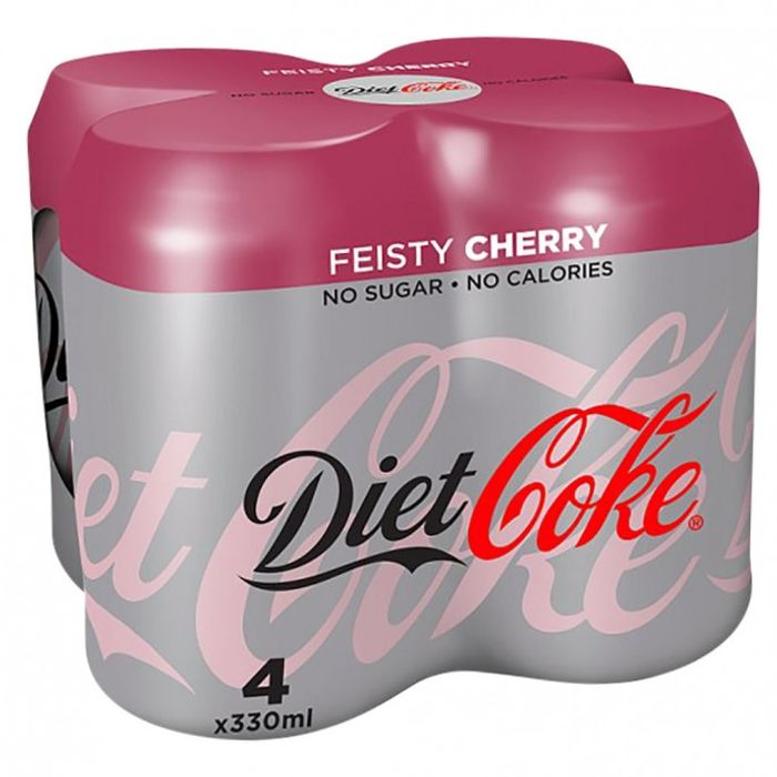 Diet Coke Feisty Cherry 4x330ml