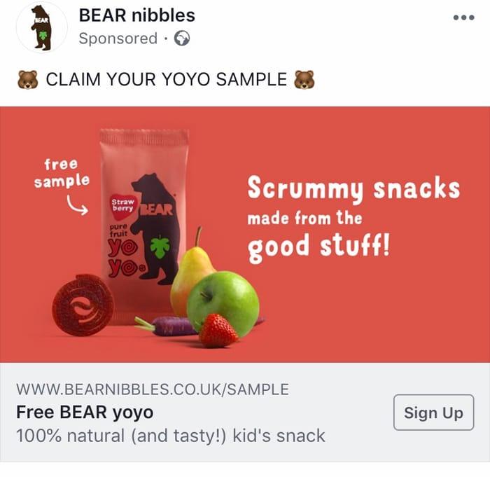 FREE Bear Nibbles Fruit Yoyo